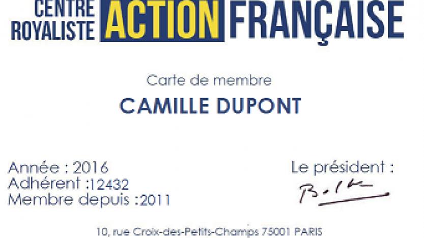 Pourquoi s'engager à l'Action française?