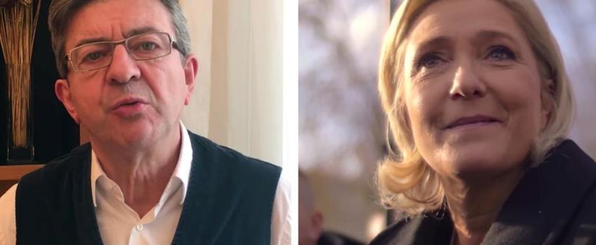 Surprise! Les médias français craignent un second tour Le Pen-Mélenchon
