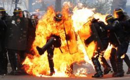 Des violences àParis lors du défilé du 1ermai