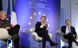 Macron va reconnaître officiellement le drapeau européen pour contrer Mélenchon