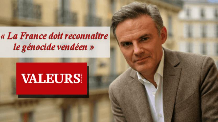 Éric Brunet dans le dernier «Valeurs actuelles»: La France doit reconnaître le génocide vendéen