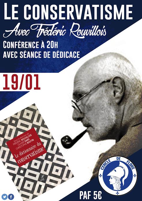 Le cercle de Flore recoit Frédéric Rouvilois le 19012018