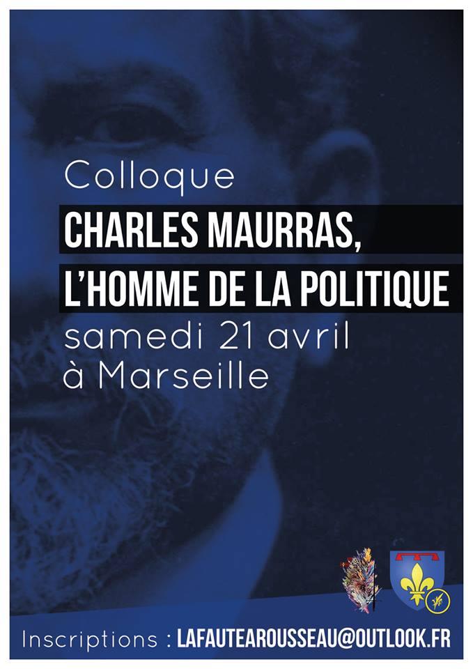 L'AF Provence vous invite à un colloque Maurras le 210418