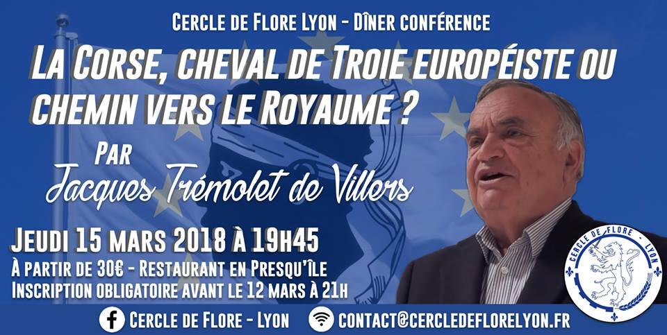 Le cercle de Flore de Lyon vous invite à un diner-conférence sur la corse le 150318