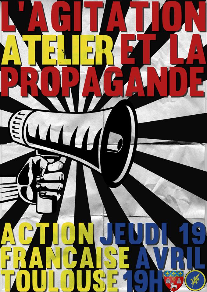 L'AF Toulouse vous invite à son atelier surv l'agitation et la propagande le 190418