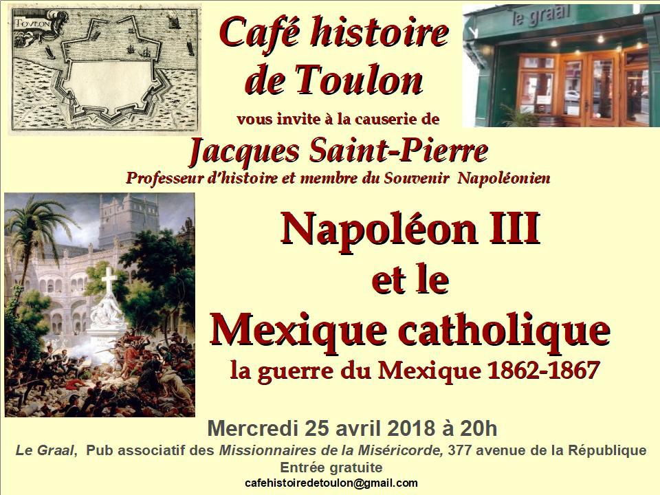 Le café histoire de Toulon vous invite à une conférence le 240418