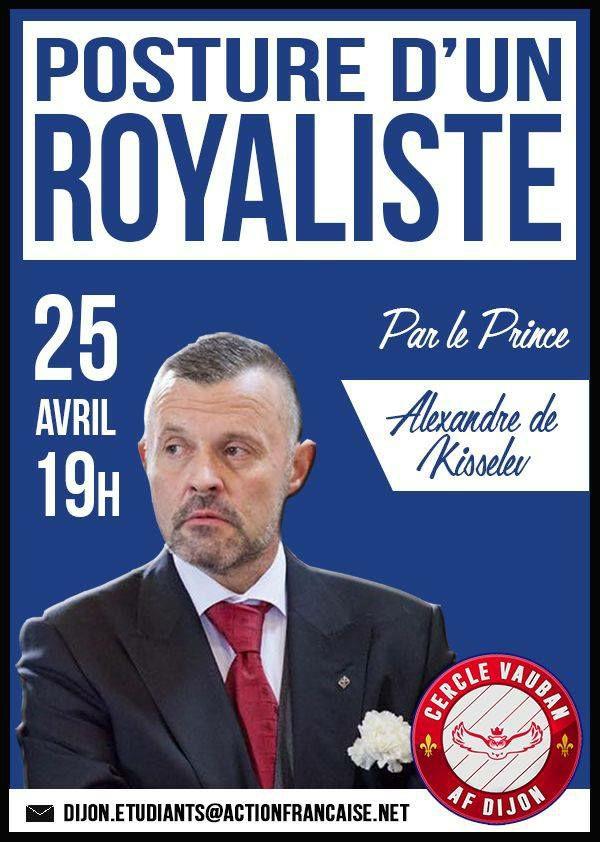 L'AF Dijon vous invite à une conférence sur la posture royaliste le 250418
