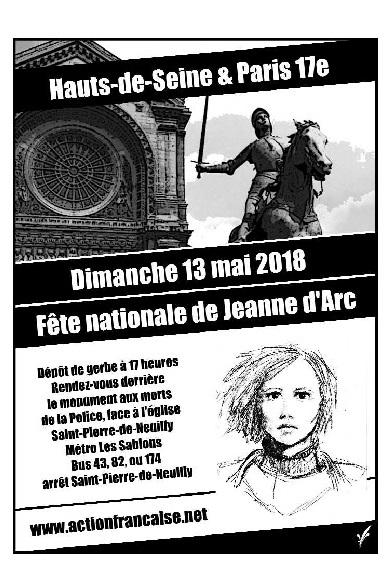 L'AF Hauts de Seine vous invite à son défilé pour Jeanne d'Arc le 130518
