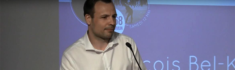 François Bel-Ker concluant le colloque Mai 68 et le Bien Commun, à Paris le 12 mai 2018