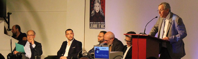 François Marcilhac introduisant le colloque Mai 68 et le Bien Commun, le 12 mai 2018 à Paris