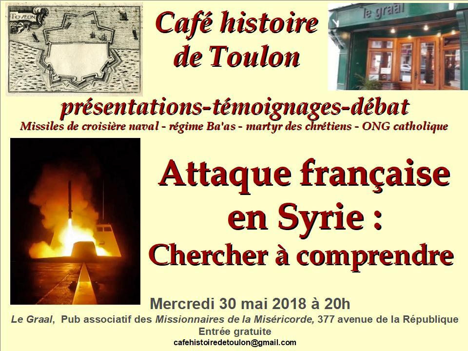 Le café d'histoire de Toulon vous invite à sa conférence sur la France et la Syrie