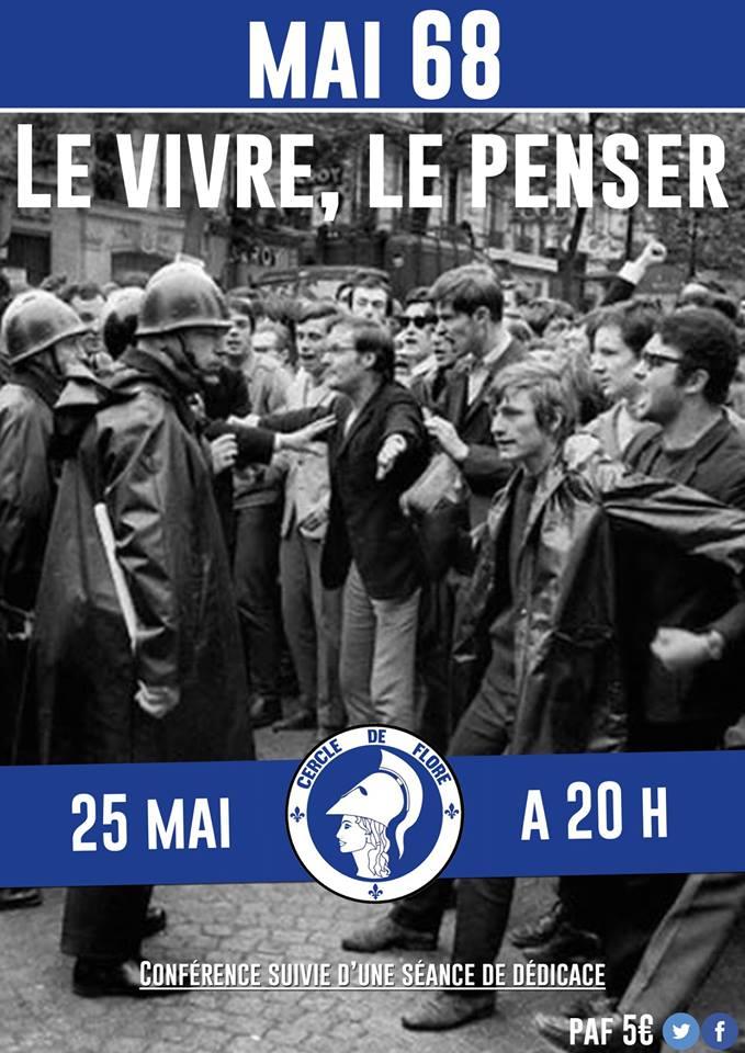 Le Cercle de Flore IDF vous invite à sa conférence sur mai 68 le 250518