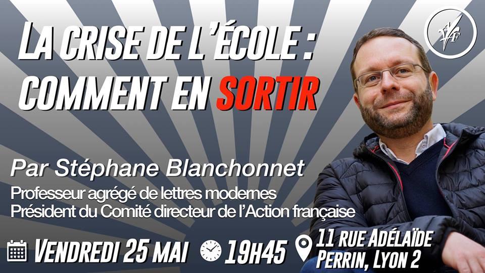 L'AF Lyon vous invite à sa conférence sur l'éducation le 250518