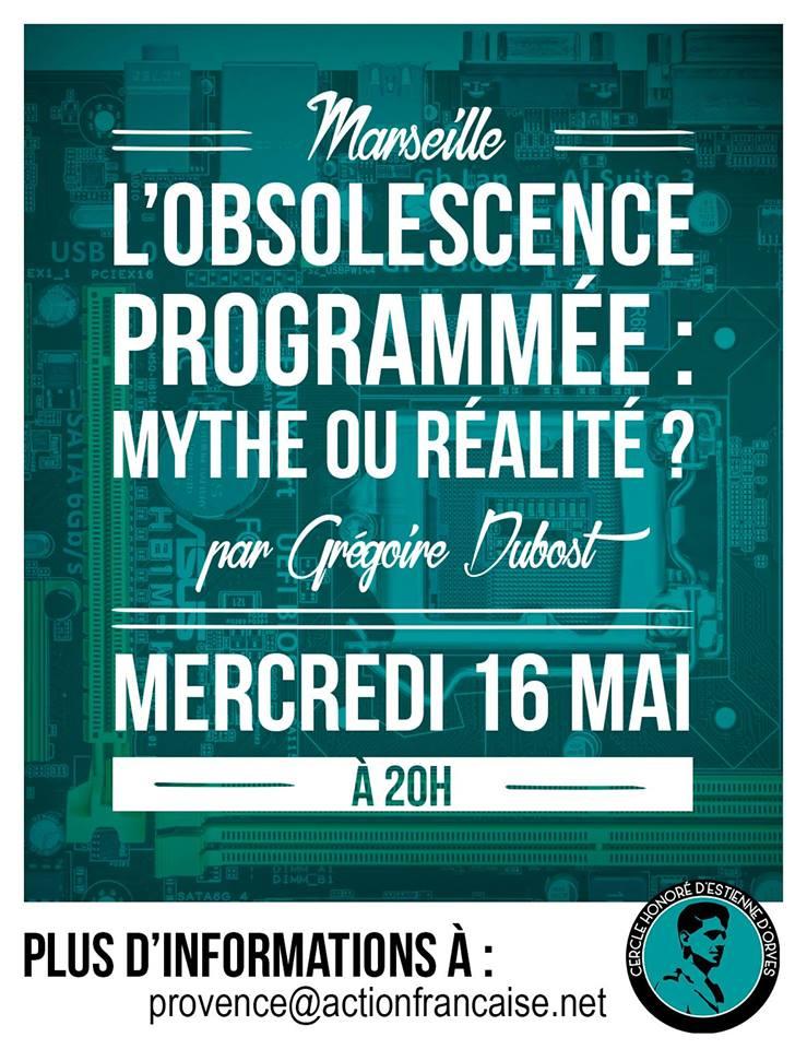 L'AF Marseille vous invite à sa conférence sur l'obscolescence le 160518