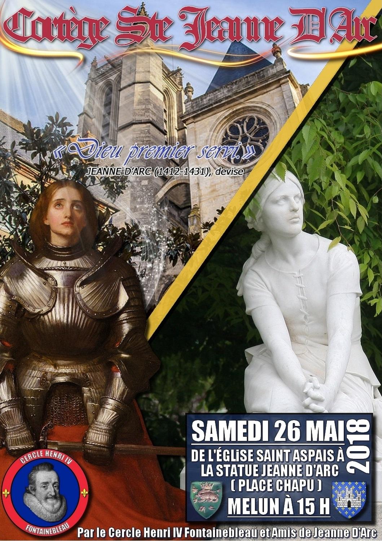 L'AF Fontainebleau vous invite à un hommage à Jeanne d'Arc le 260518