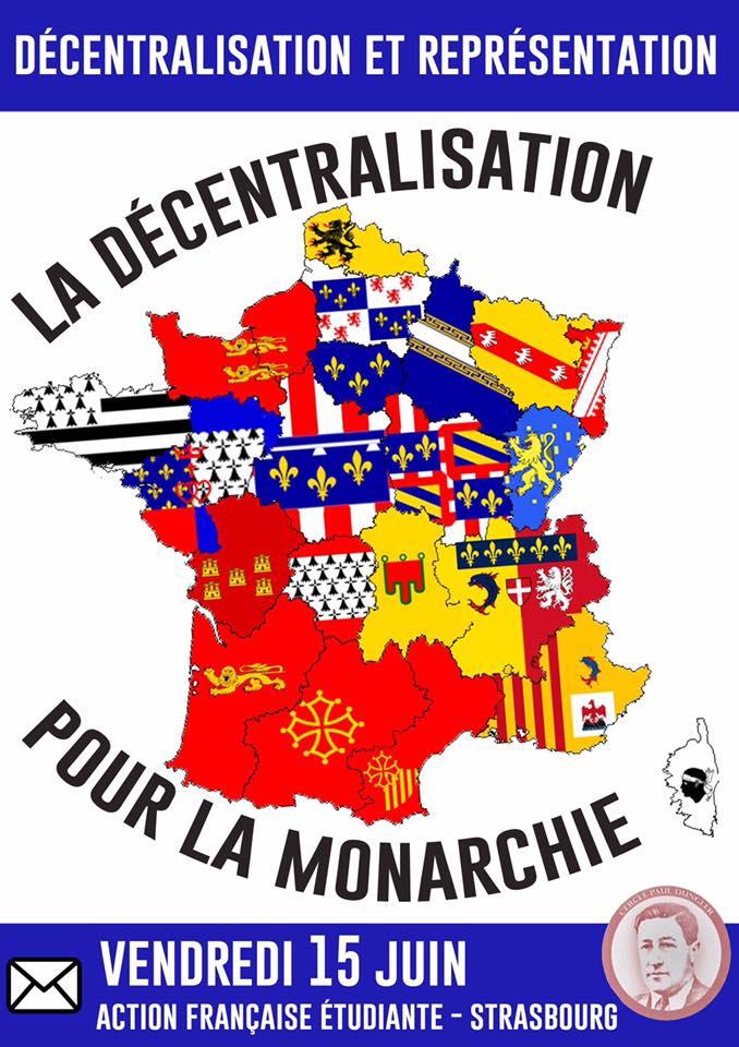L'AF Strasbourg vous invite à leur cercle sur la décentralisation et la monarchie le 150618