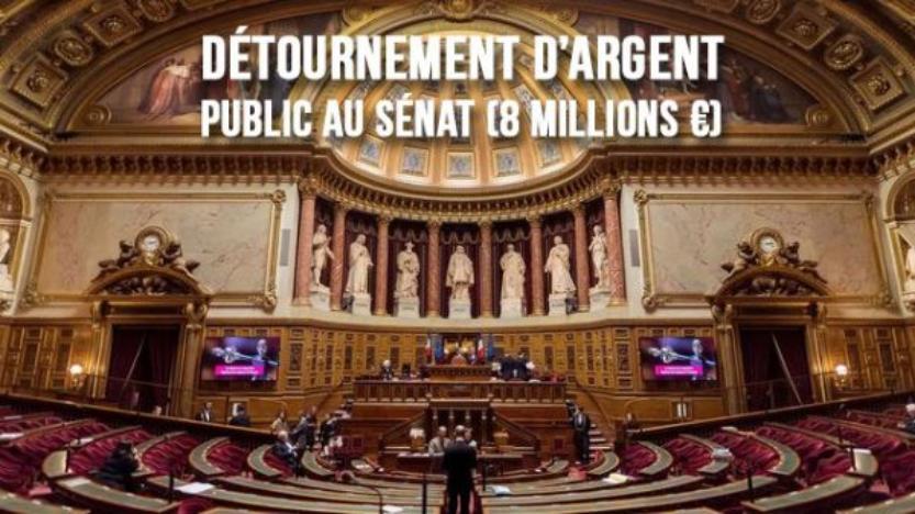 117 sénateurs sont soupçonnés d'avoir détourné 8 millions d'euros