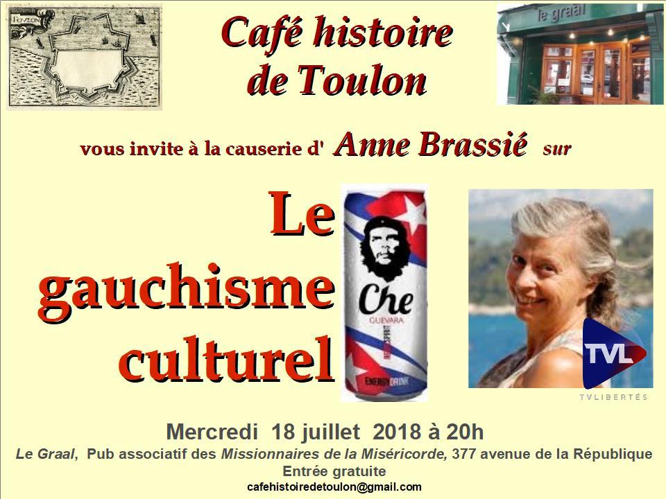 Le Café histoire de Toulon vous invite à une conference sur le gauchisme culturel le 180718
