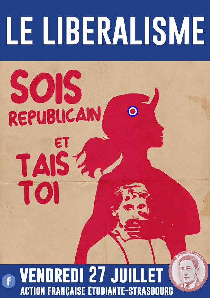 L'AF Strasbourg vous invite à leur cercle sur le liberalism'e le 270718