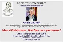 Le Centre Lesdiguieres vous invite à une conference sur l'islam et le christianisme le 170918