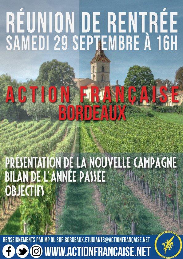 L'AF Bordeaux vous invite à sa rentrée militante le 290918