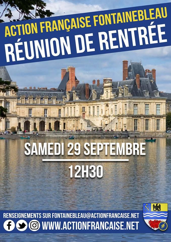 L'Action francaise Fontainebleau vous invite à sa rentrée militante le 290918