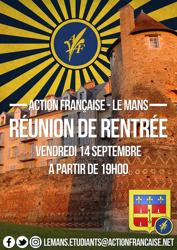 L'Action française Le Mans vous invite à sa rentrée militante le 140918