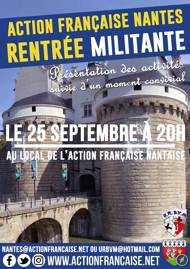 L'AF Nantes vous invite à sa rentrée militante le 250918