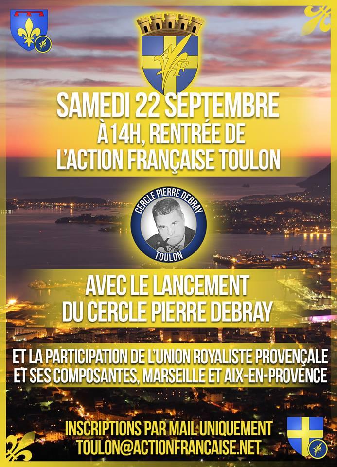 L'AF Toulon vous invite à sa rentrée militante le 220918