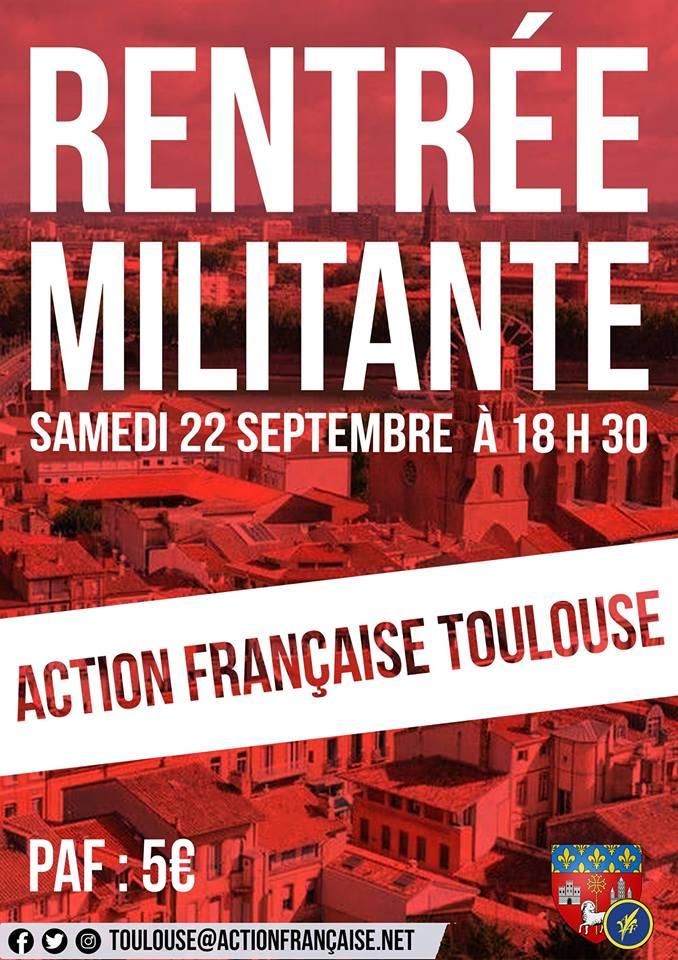 L'AF Toulouse vous invite à sa rentrée militante le 220918