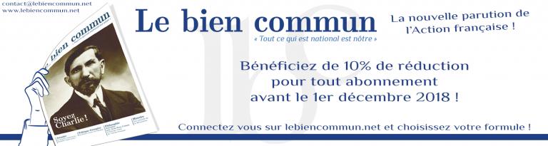 Slider de lancement du Bien Commun, site de l'AF, octobre 2018