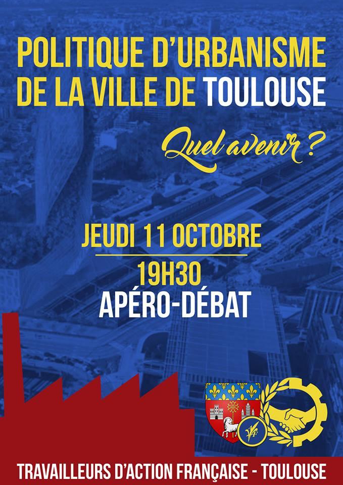 La section des travailleurs d'AF de Toulouse vous invite à un apéro débat sur l'urbanisme le 111018