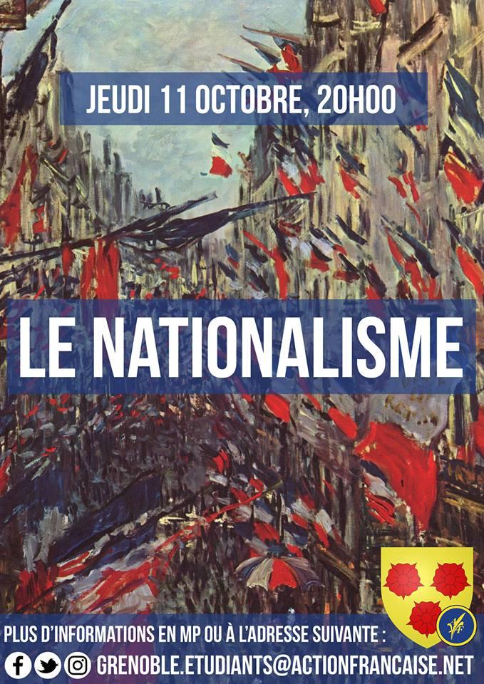 L'AF Grenoble vous invite à leur cercfle sur le nationalisme le 111018