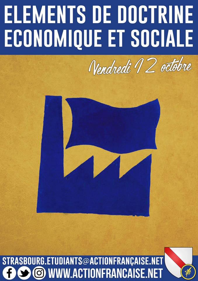 L'AF Strasbourg vous invite à son cercle sur les éléments de doctrine economique et sociale le 121018