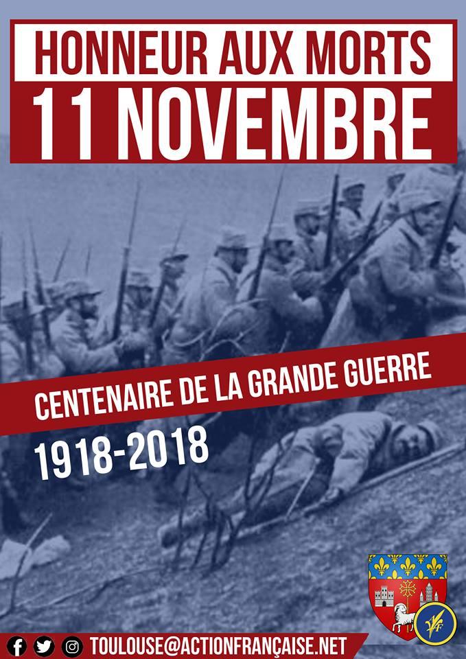 L'AF Toulouse vous invite à un hommage aux soldats morts pour la France le 11118