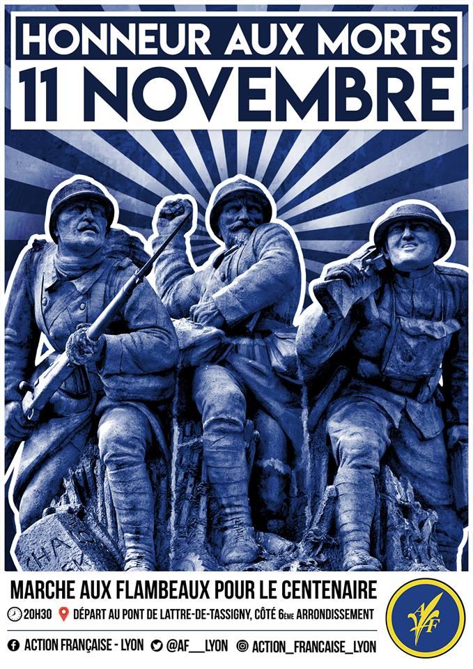 L'AF Lyon vous invite à la marche aux flambeaux du centenaire du 11 novembre le 11118