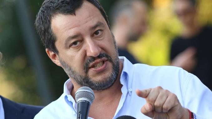 LE ministre de l'intérieur italien, Matteo Salvini