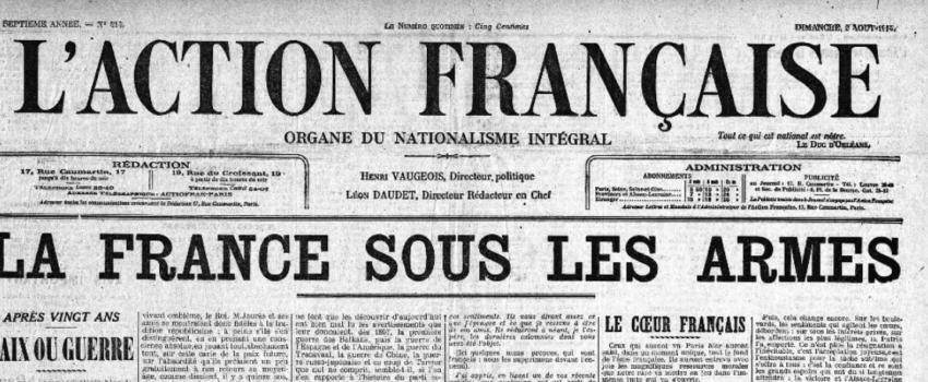L'Action française et la Grande guerre