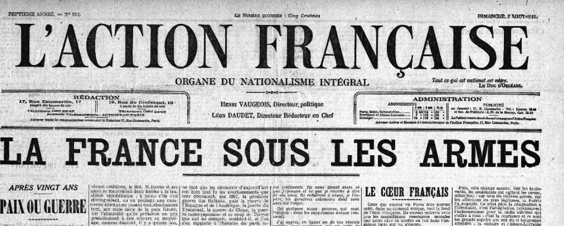 1914-1918 grande guerre action francaise