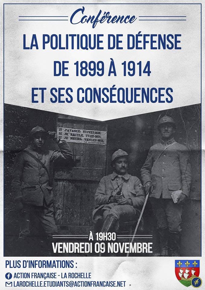L'af lA rOCHELLE VOUS INVITE 0 SON CERCLE SUR LA PPLOITIQUE DE D2FENSE DE 1899-1914 LE 091118