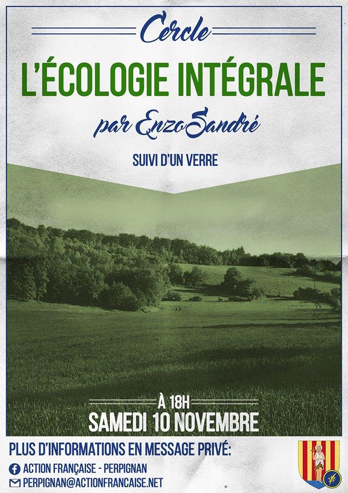 L'AF Perpignan vous invite à son cercle sur l'écologie intégrale le 101118