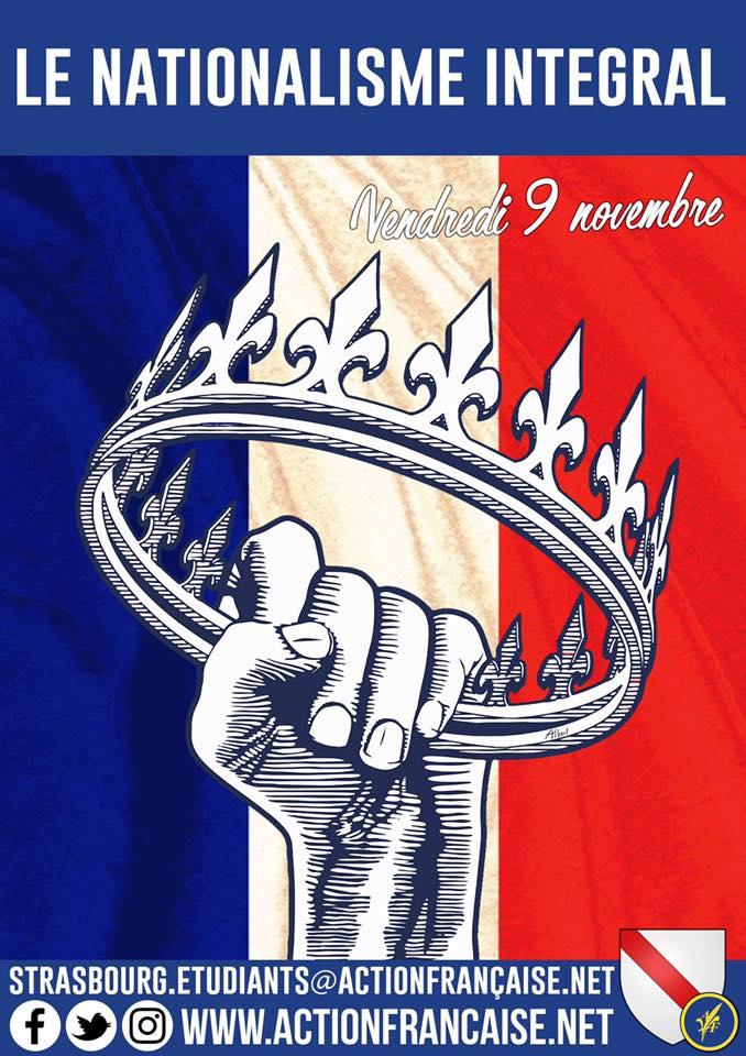 L'AF Strasbourg vous invite à son cercle sur le nationalisme intégral le 091118