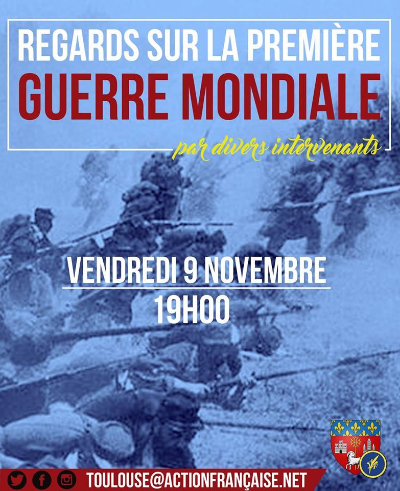 L'AF Toulouse vous invite à son cercle sur sur la première guerre mondiale le 091118