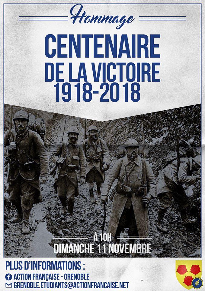 L'AF Grenoble vous invitre à rendre hommage aux morts de 14-18 le 111118