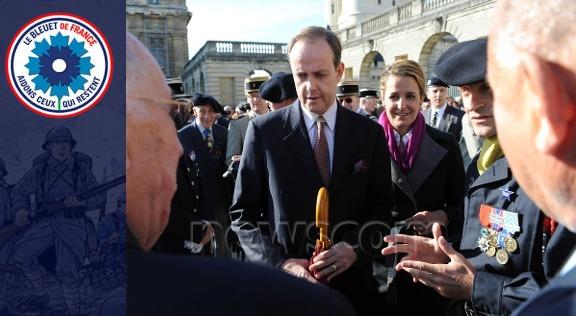 Le prince Jean rend hommage aux polis de la grande guerre