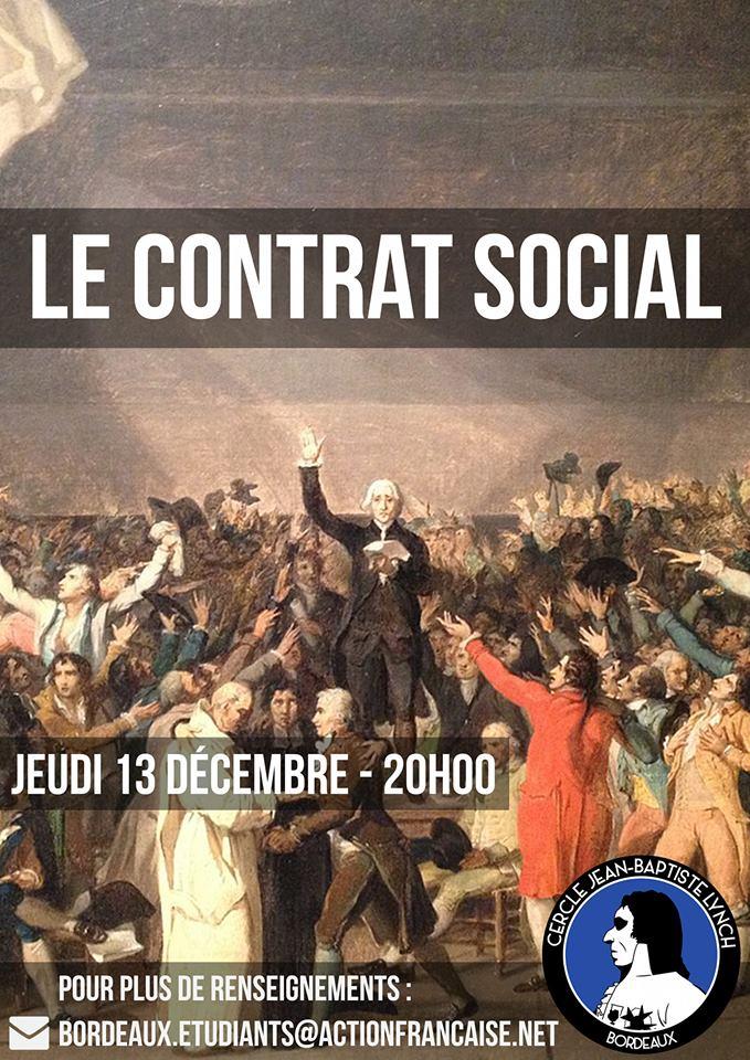 L'AF Bordeaux vous invite à son cercle sur le contrat social le 131218