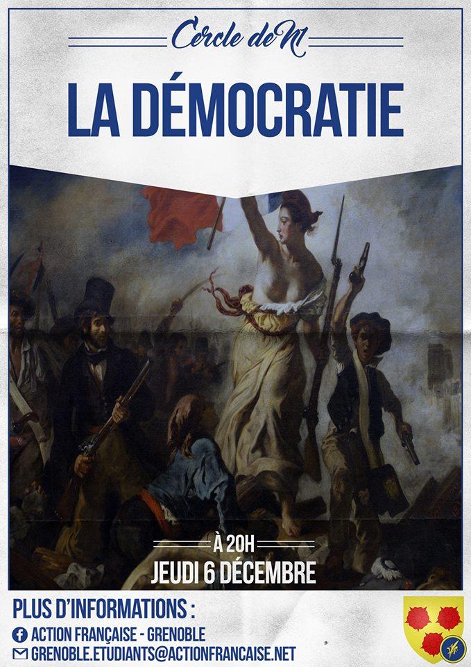L'AF Grenoble vous invite à son cercle sur la démocratie le 061218
