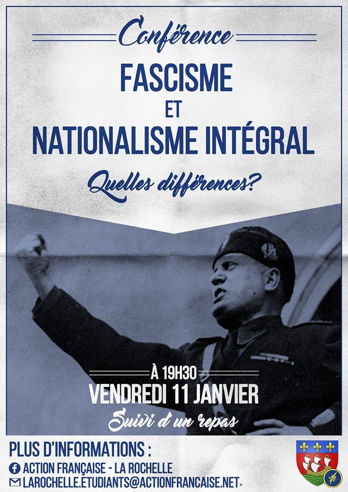 L'AF La Rochelle vous invite à son cercle sur le fascisme contre la monarchie le 11019