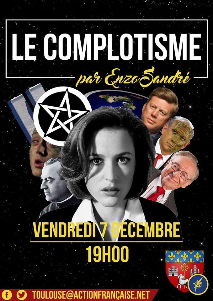 L'AF Toulouse vous invite à son cercle sur le complotisme le 071218