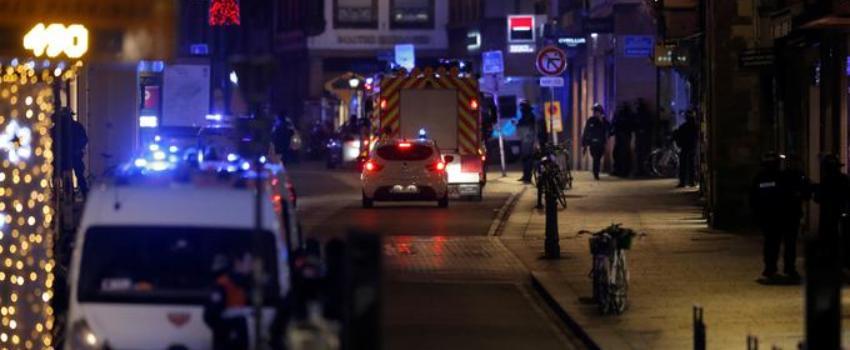 Fusillade àStrasbourg: au moins 4morts, le tireur présumé «fichéS»